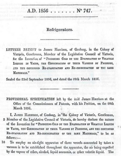 Examples of Harrisons Patents