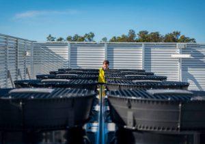 commercial refrigeration condenser deck
